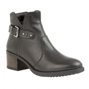 Lotus Womens Tapti Black Leather Ankle Boots